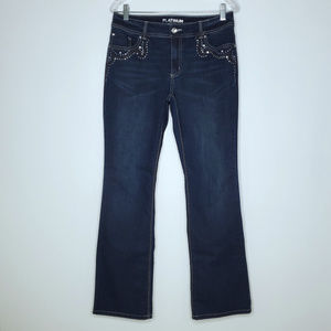 Chico's Platinum Jeans SZ 0.5 Small 6 Embellished